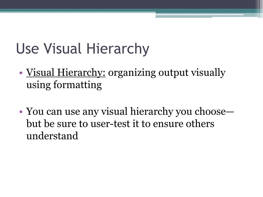 Use Visual Hierarchy