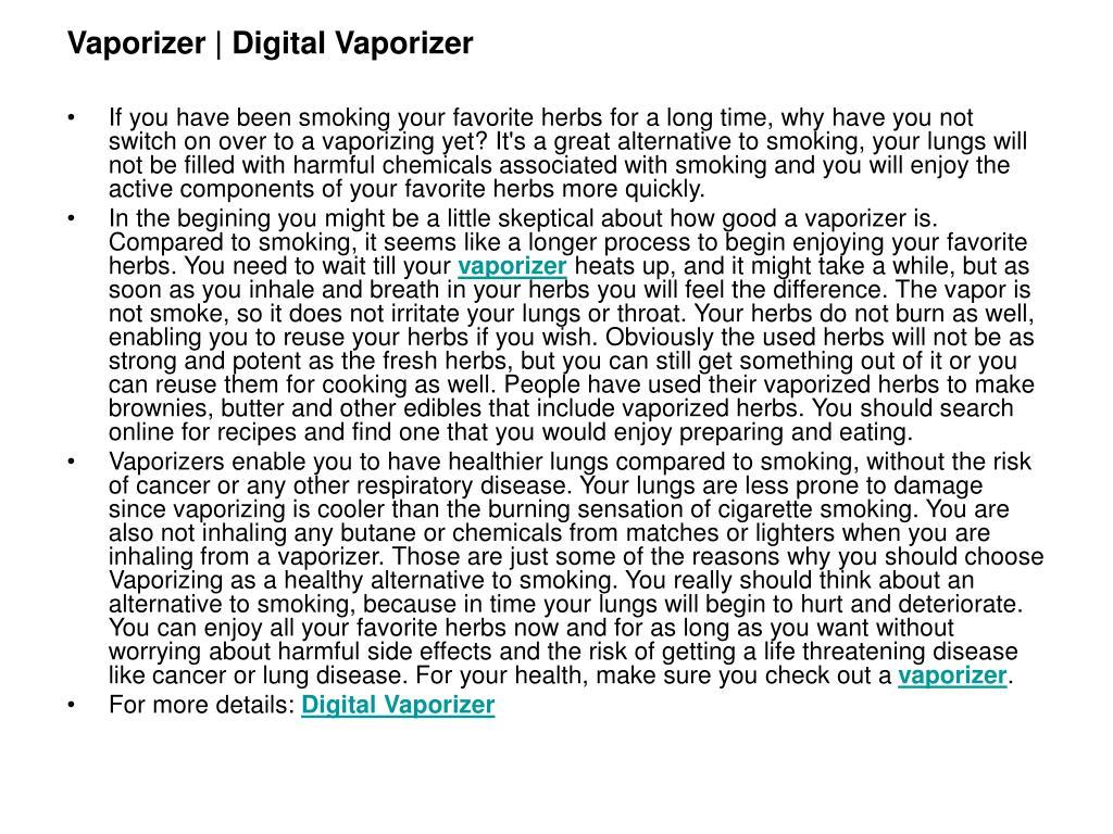 vaporizer digital vaporizer l.