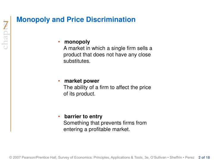 Monopoly and price discrimination