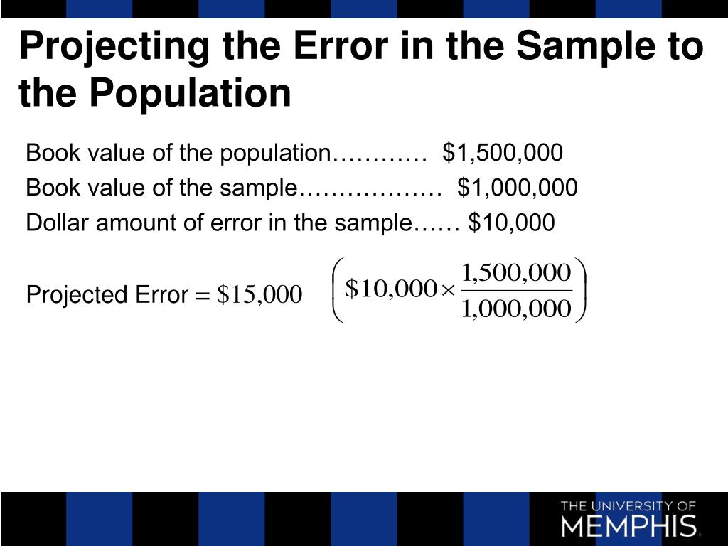 Projecting the Error in the Sample to the Population