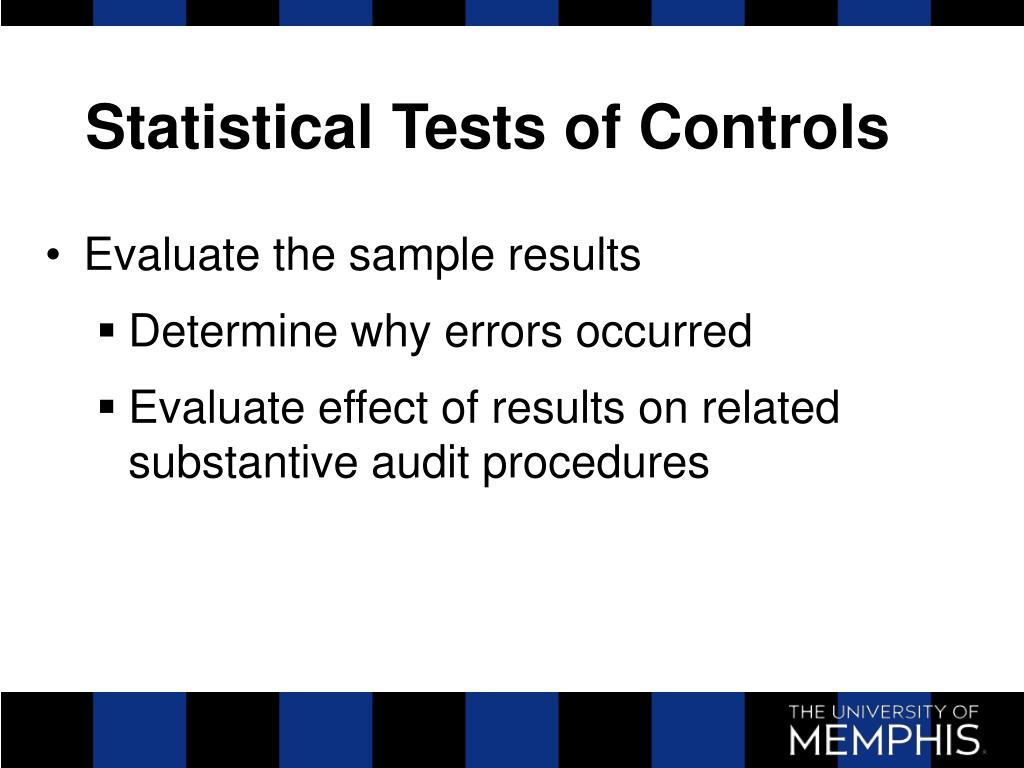 Statistical Tests of Controls