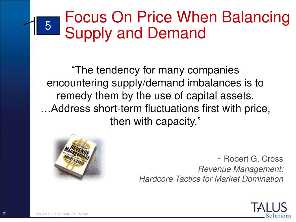 Focus On Price When Balancing Supply and Demand