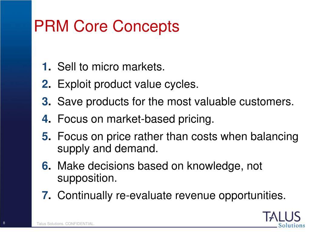 PRM Core Concepts
