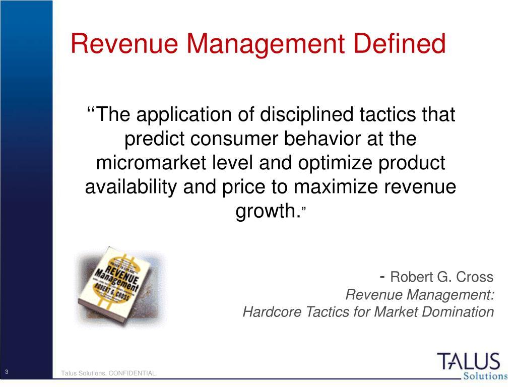Revenue Management Defined