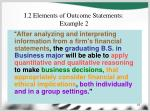 i 2 elements of outcome statements example 2