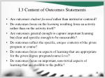 i 3 content of outcomes statements
