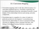 ii 1 curriculum mapping
