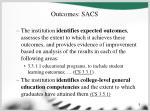outcomes sacs