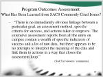 program outcomes assessment what has been learned from sacs commonly cited issues63
