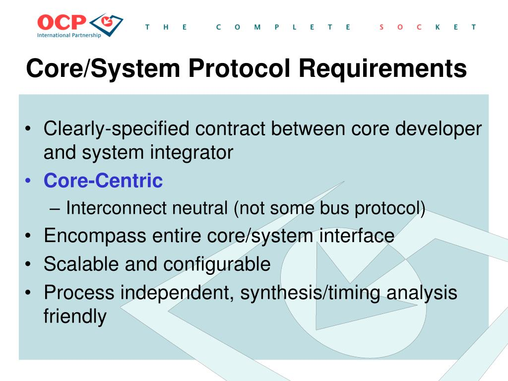 Core/System Protocol Requirements