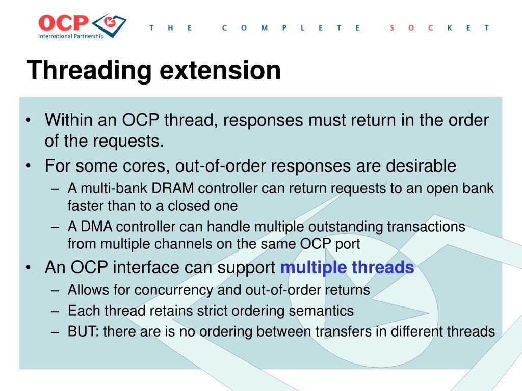 Threading extension