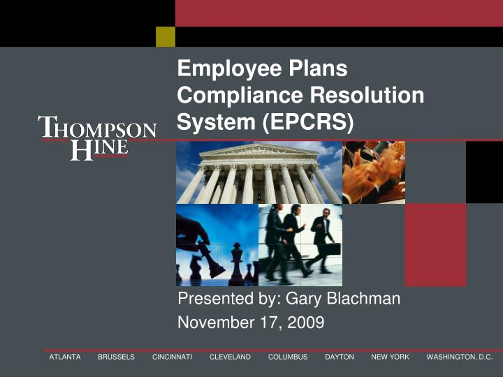 employee plans compliance resolution system epcrs n.