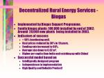 decentralized rural energy services biogas
