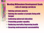 meeting millennium development goals role of energy services