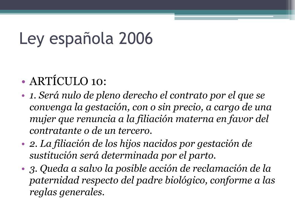 Ley española 2006