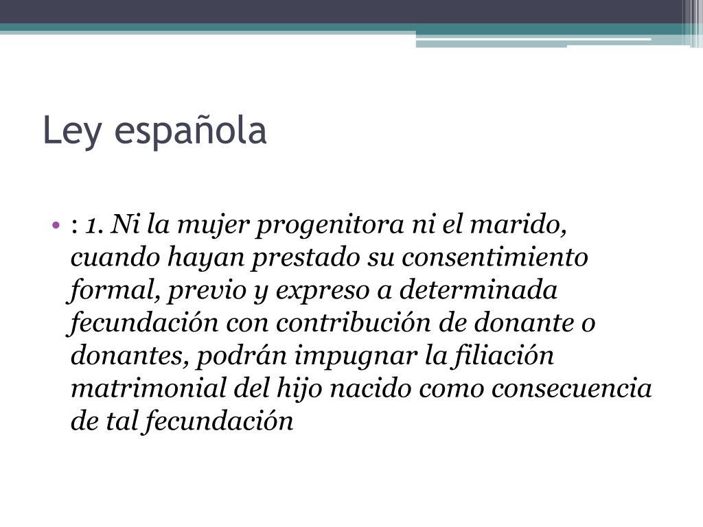 Ley española