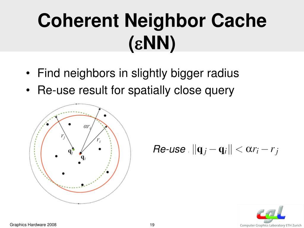 Coherent Neighbor Cache