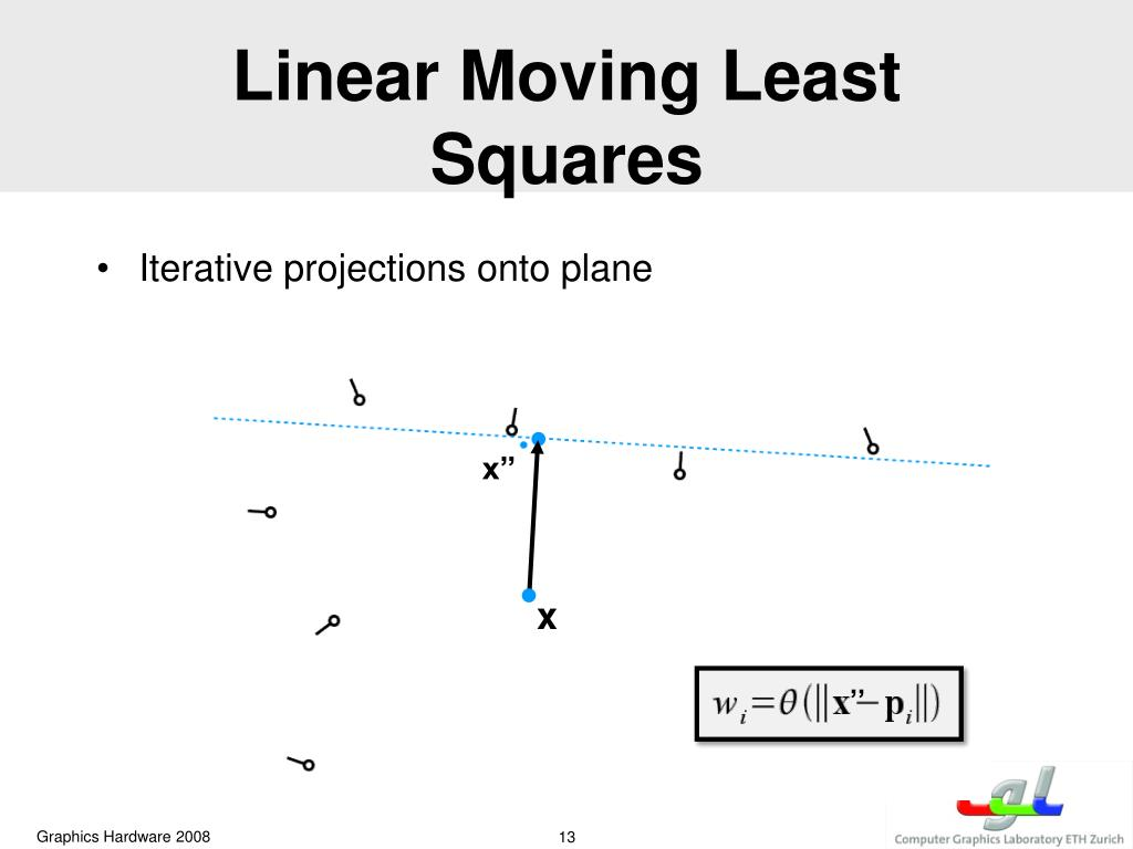 Linear Moving Least Squares