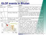 glof events in bhutan