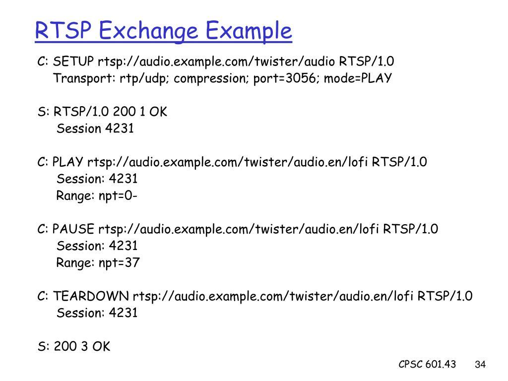 RTSP Exchange Example