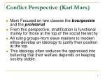 conflict perspective karl marx