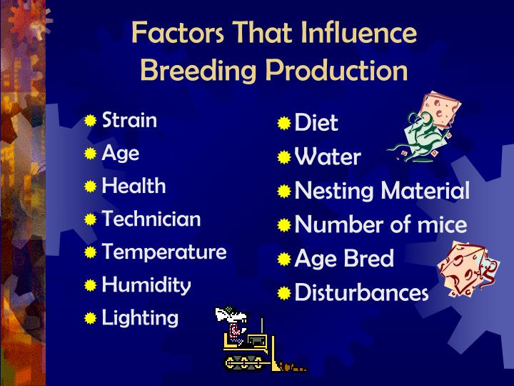 Factors that influence breeding production