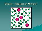 element compound or mixture