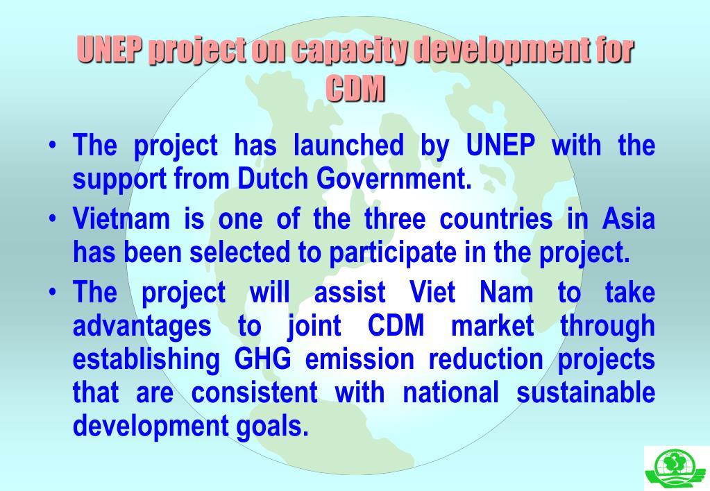 UNEP project on capacity development for CDM