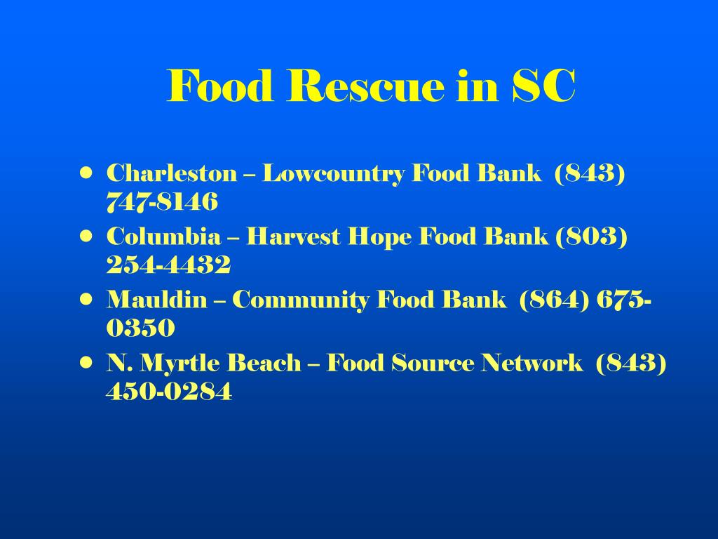 Food Rescue in SC