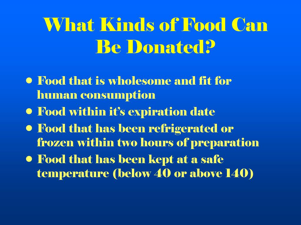 What Kinds of Food Can Be Donated?