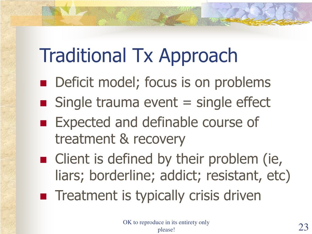 Traditional Tx Approach