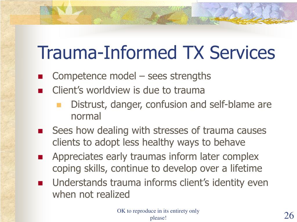 Trauma-Informed TX Services