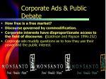 corporate ads public debate