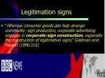 legitimation signs
