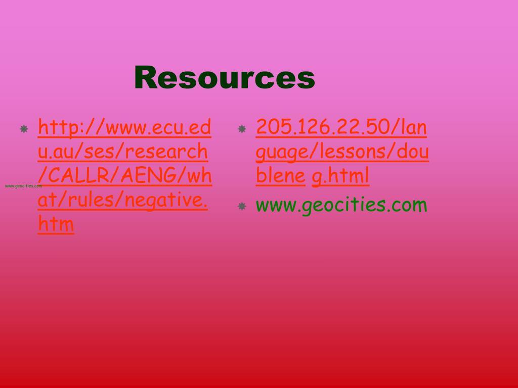 http://www.ecu.edu.au/ses/research/CALLR/AENG/what/rules/negative.htm