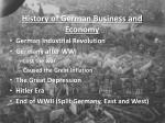 history of german business and economy