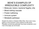 behe s examples of irreducible complexity
