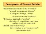 consequences of edwards decision