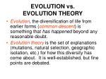 evolution vs evolution theory