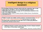 intelligent design is a religious movement112