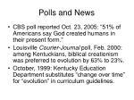 polls and news