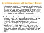 scientific problems with intelligent design105