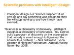 scientific problems with intelligent design106