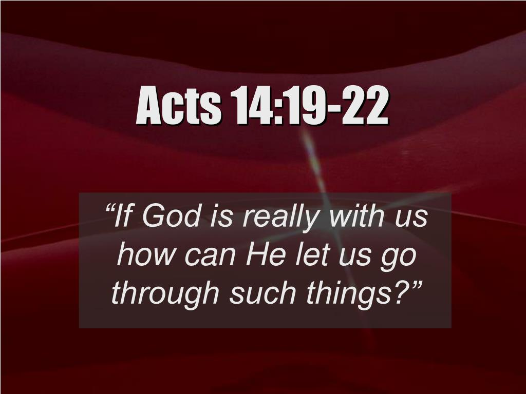 acts 14 19 22 l.