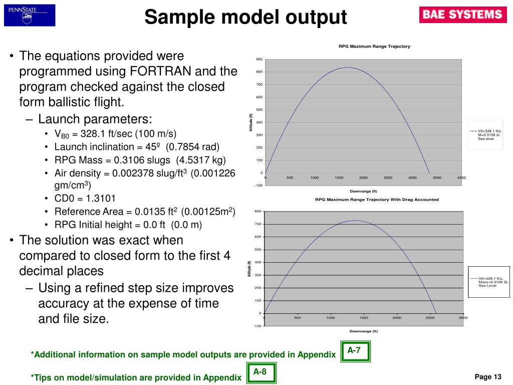 Sample model output