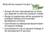 what will the research involve52