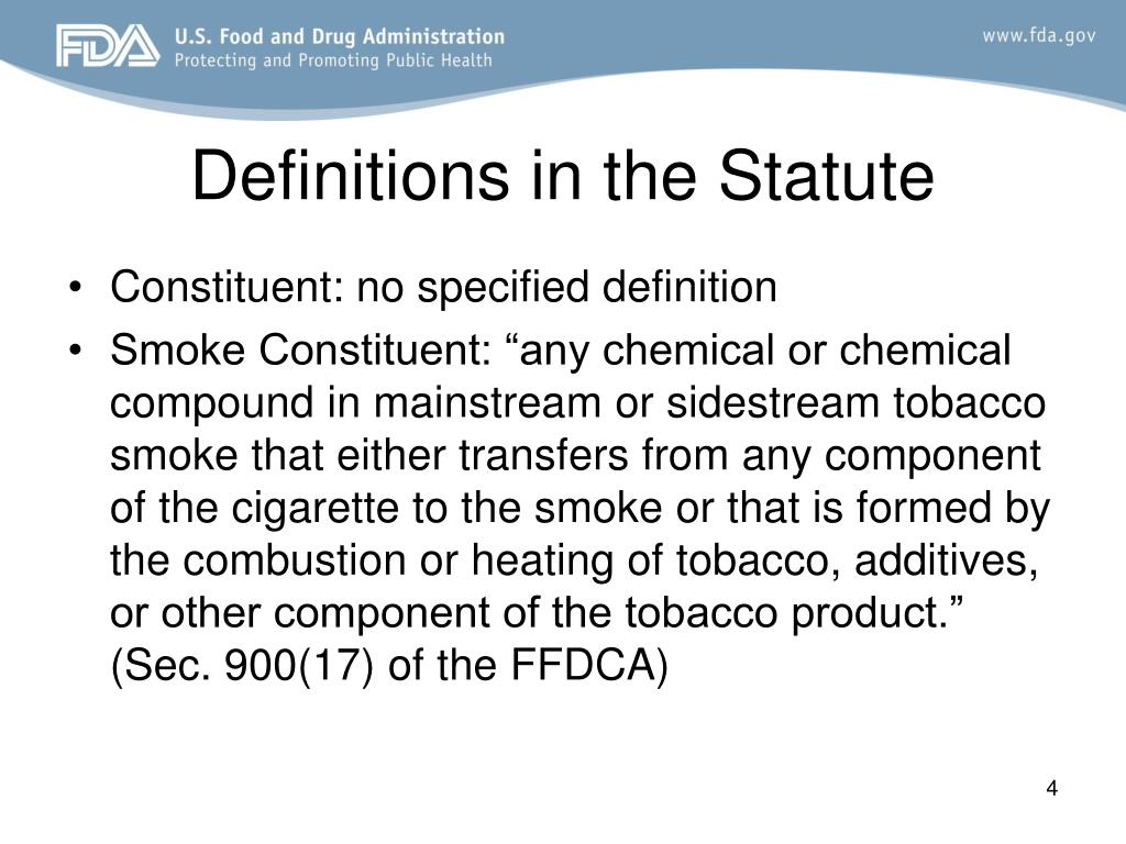 Definitions in the Statute