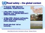 road safety the global context