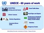 unece 60 years of work