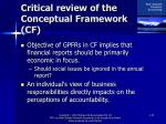 critical review of the conceptual framework cf